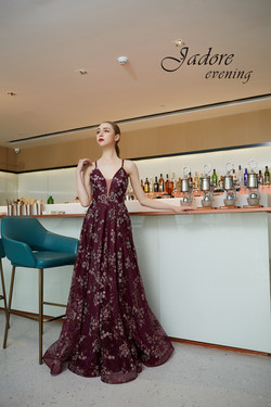 J19018 Berry Prom Dress