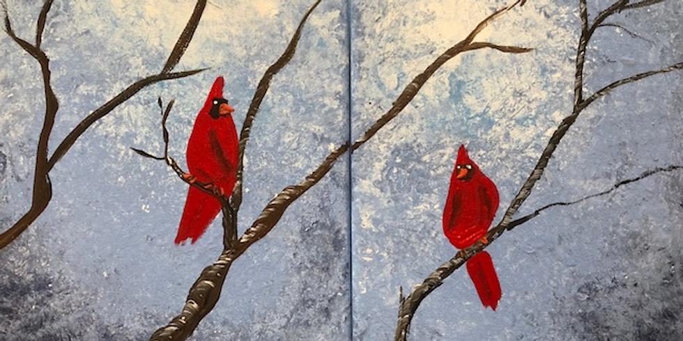 Cardinal Pop Up Paint Party
