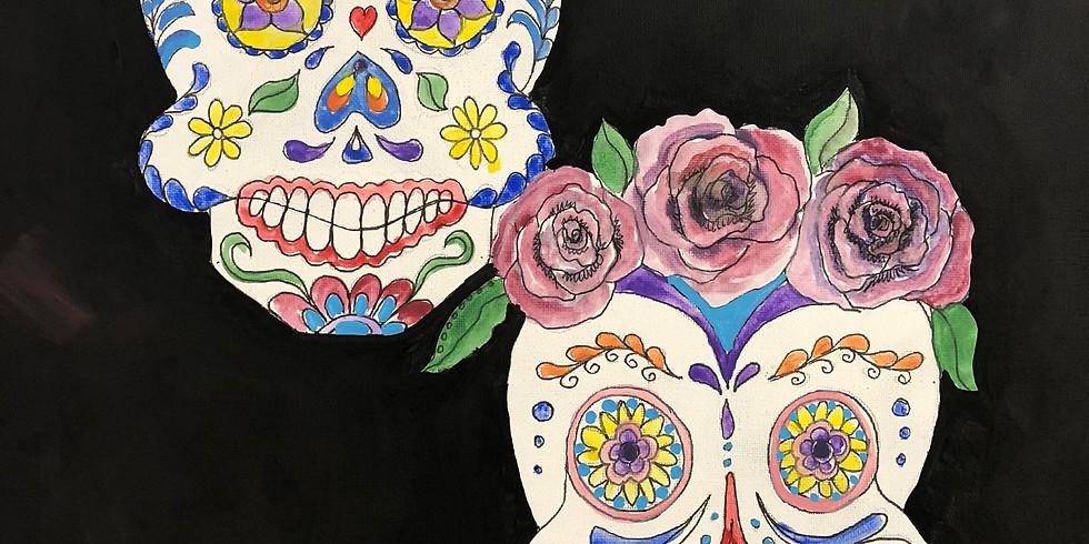 Happy Sugar Skulls Pop Up Paint Party