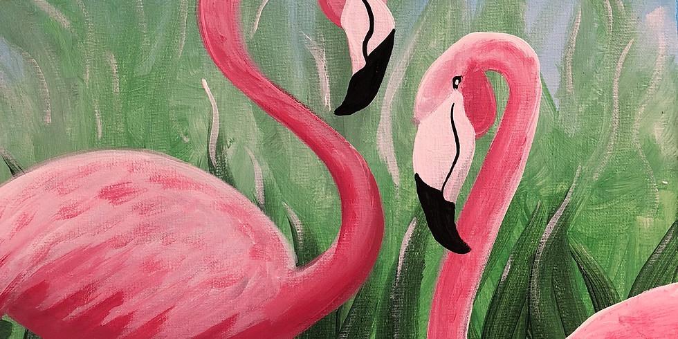 Flamingo Family Pop Up Paint Party