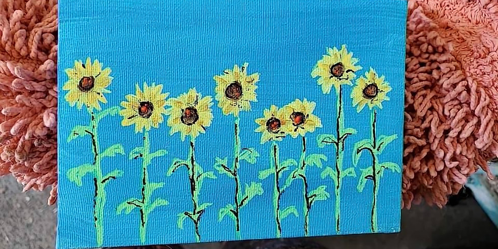 Happy sunflowers Paint Party