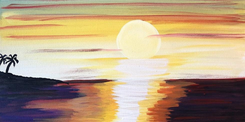 Sunset Pop Up Paint Party