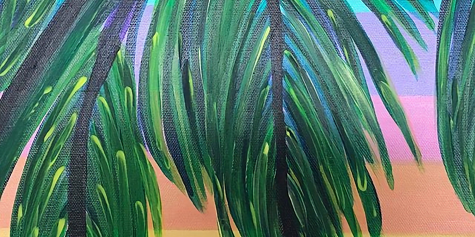 Palm Tree Pop up Paint Party