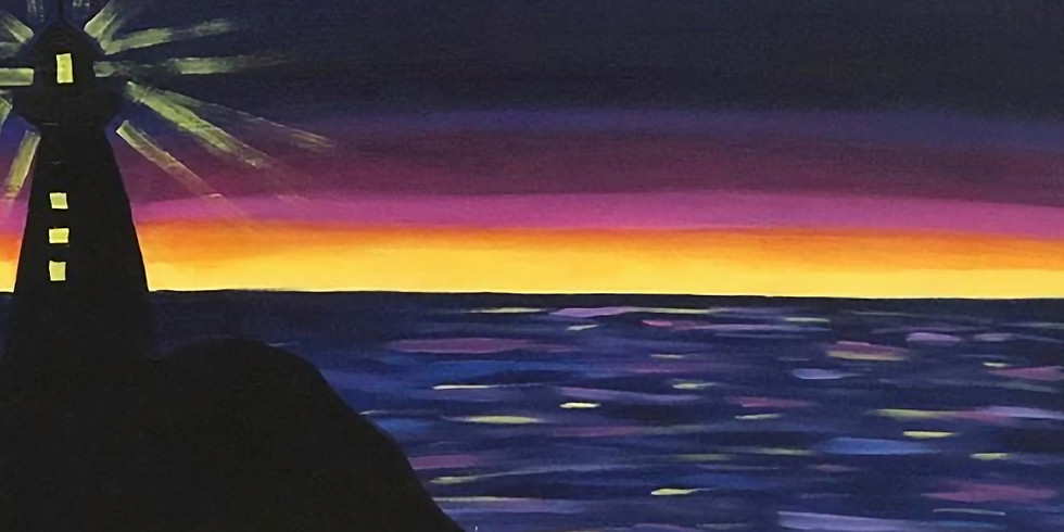 Sunset Lighthouse Pop up Paint Party