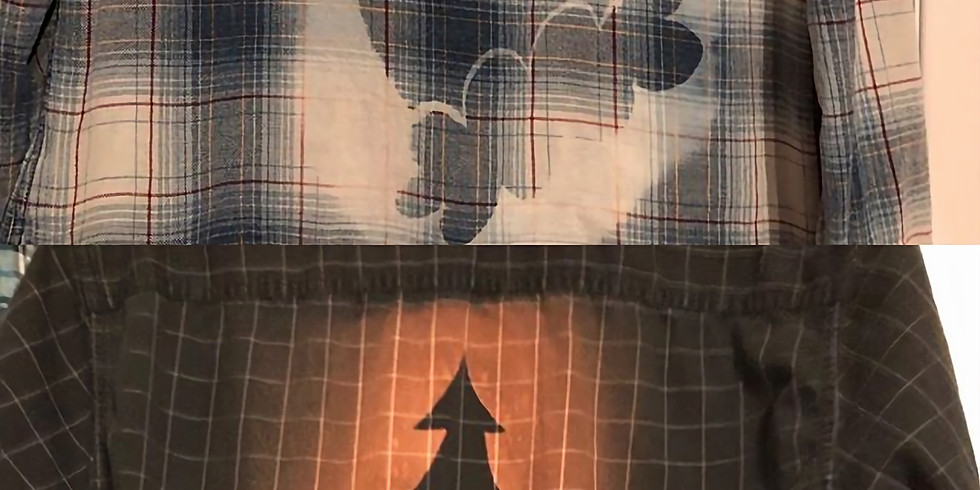 Flannel Shirt Bleach Discharge