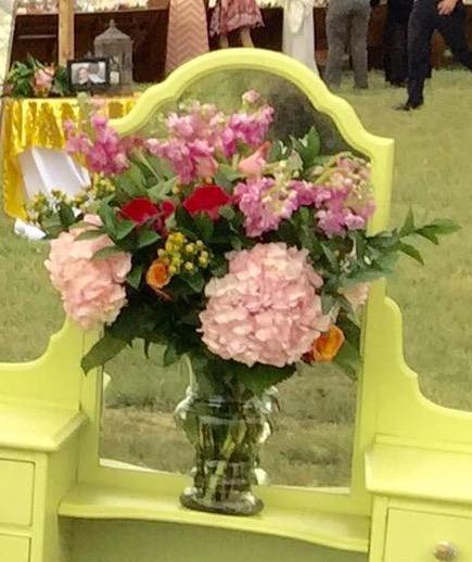 Large clear vase
