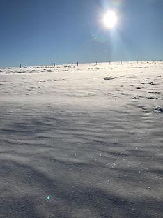 paysage d hiver sur les plateaux
