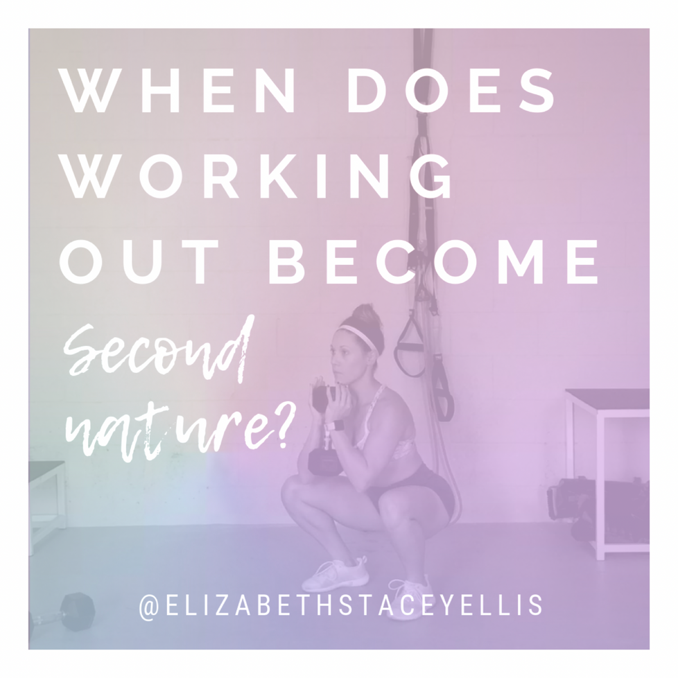 When does working out become second nature?