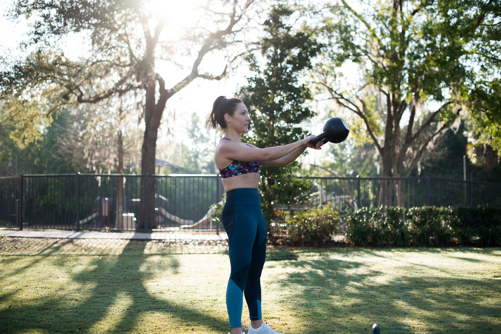 How to swing a kettlebell Russian-style
