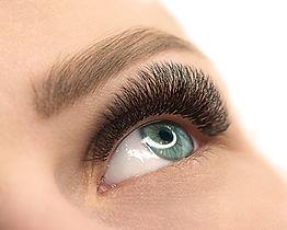 Beautiful female open blue eye with eyel