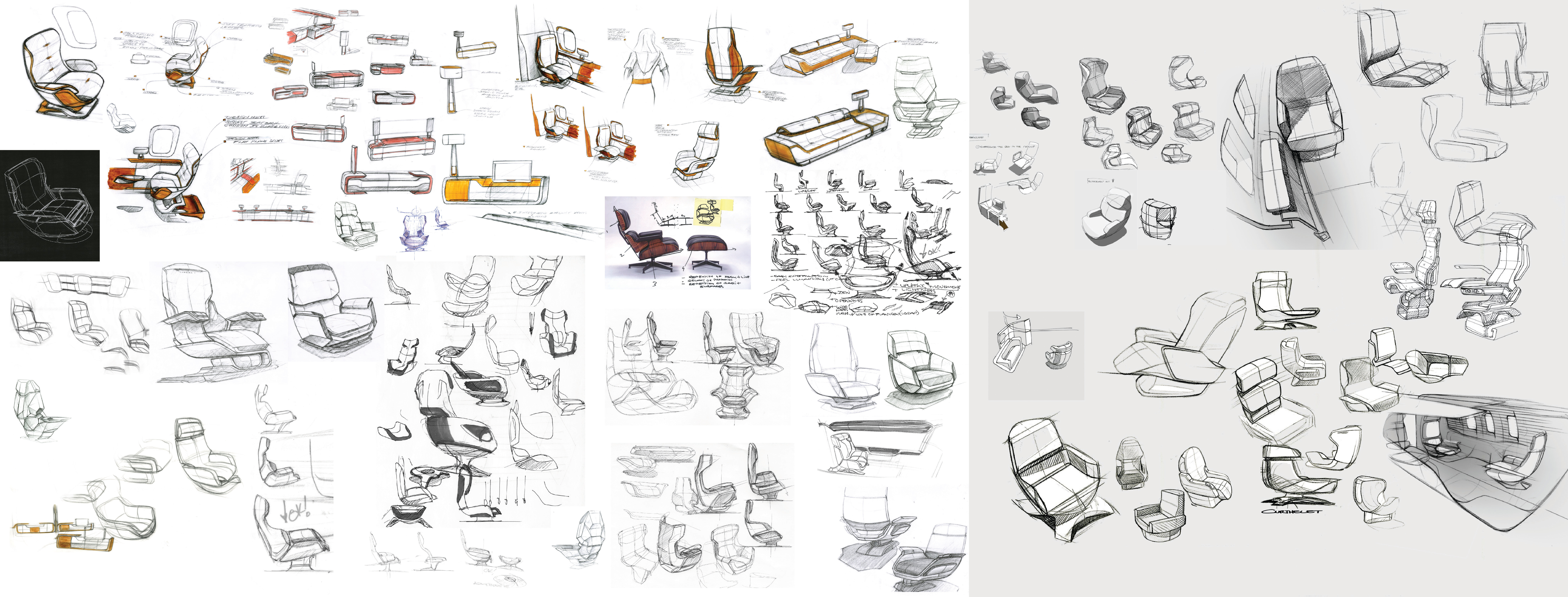 Collection of Seat Ideations