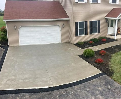 Driveway apron replace with a little asp