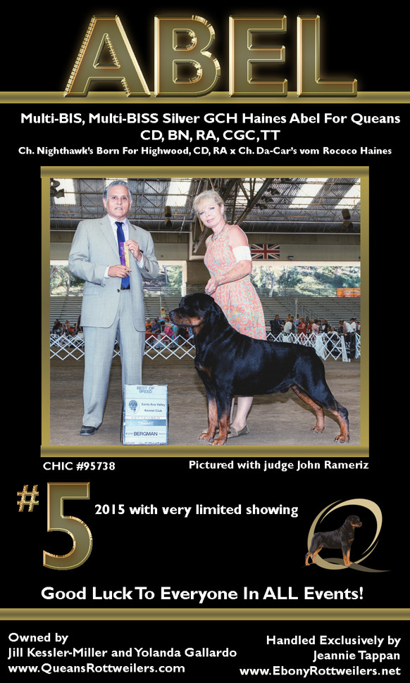 Best wishes to everyone competing at the 2016 American Rottweiler Nationals in Lancaster, PA!