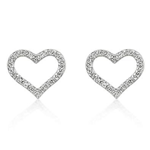 OPEN HEART CUBIC ZIRCONIA EARRINGS