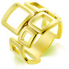 14 CRT GOLD MATTE PLATED RING