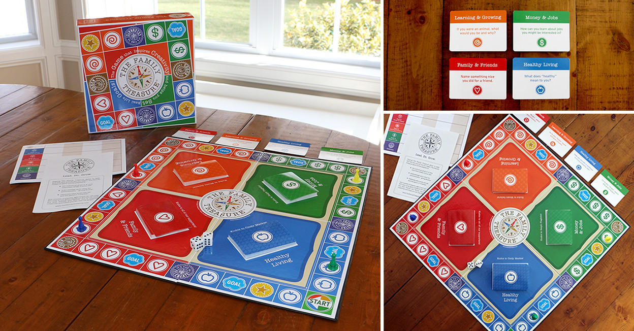 game packaging & design | Family Treasure game