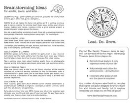 Family Treasure game instructions sideA-