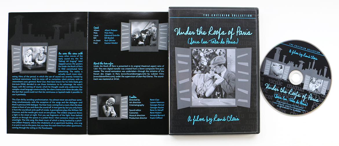 dvd packaging   Criterion Rooftops Paris