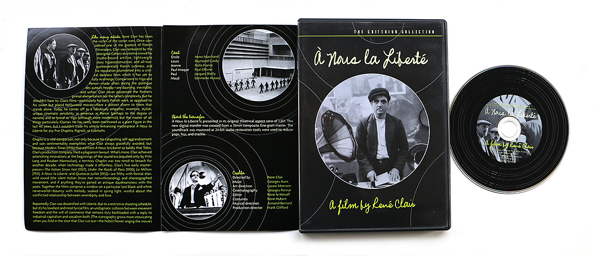 dvd packaging | Criterion Nous Liberte