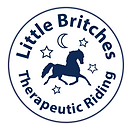 The Little Britches logo: a horse with four stars and the moon surrounding it.