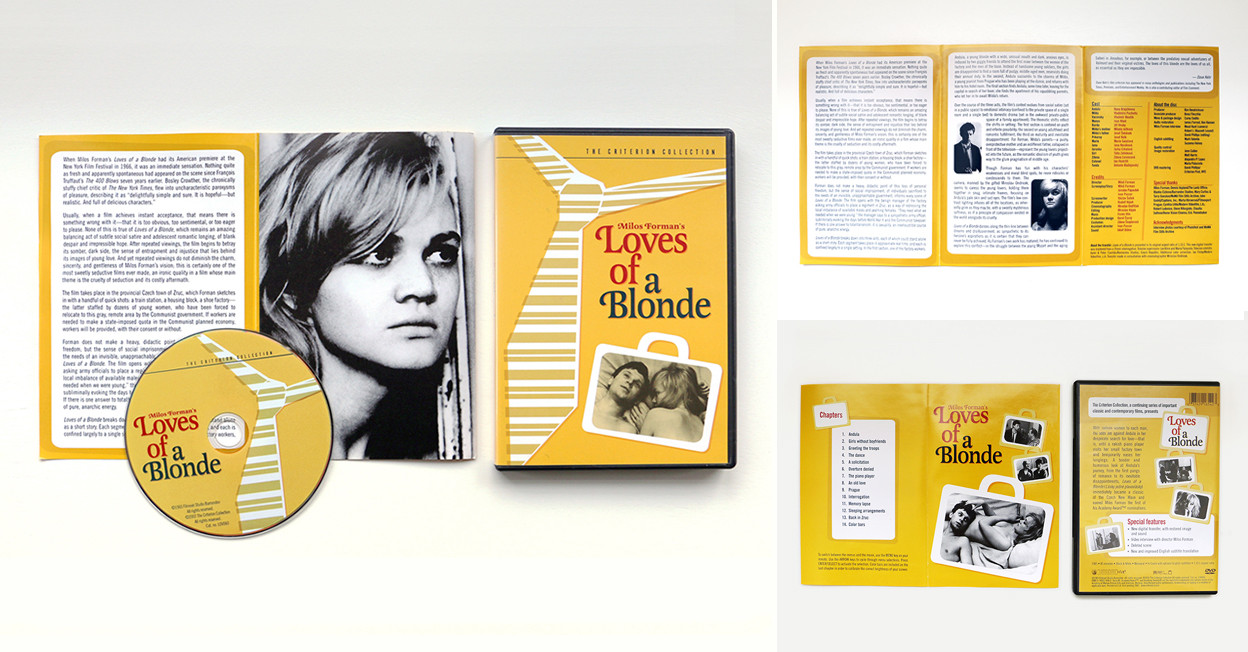 dvd packaging | Criterion Loves of a Blonde