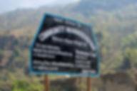Annapurna-Dhaulagiri Community trail sign post, Nepal