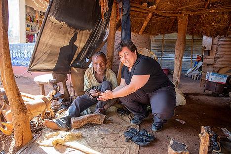 Buying an elephant wood carving at Mto Wa Mbu | Tanzania | Shots and Tales