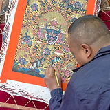 Lama painting Thanka in Bhaktapur Nepal