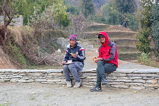 Bam Purja Pun and Gam Paiga Pun during Annapurna-Dhaulagiri Community Trail