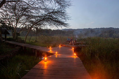 Evening fire on a path | Kiboko Lodge | Shots and Tales | Arusha | Tanzania