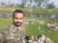 Bijay Giri from Wildlife Adventure Tours, Clean up initiative, Chitwan, Nepal