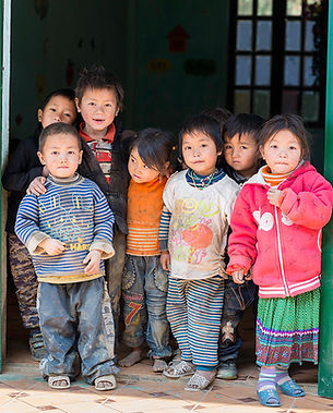 Children at school in the province of Ha Giang in Vietnam