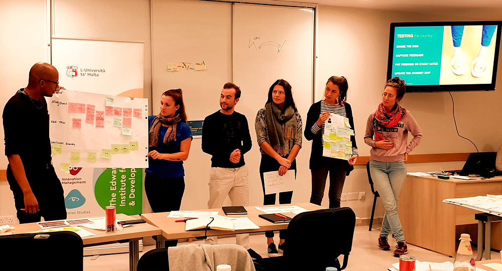 Design Thinking Workshop | Tink Tings | Malta | Presenting and Journey Map