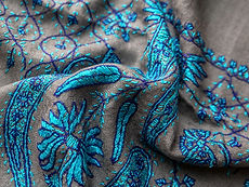 Detail of pashmina scarf