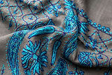 Detail of hand embroidered scarf bought from Thamel, Katmandu, Nepal