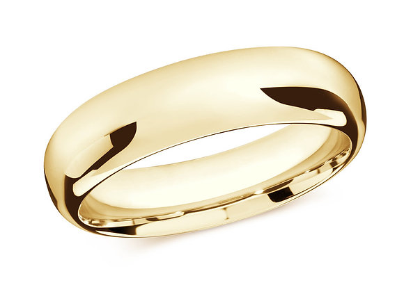 Yellow Gold Men's Ring Size 7mm