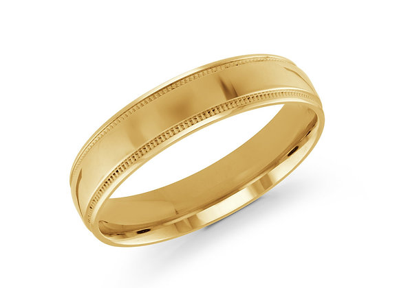 Yellow Gold Men's Ring Size 5mm