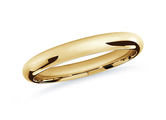 Yellow Gold Men's Ring Size 2mm