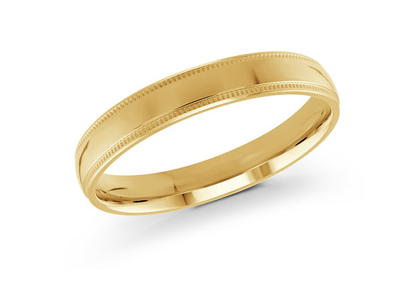 Yellow Gold Men's Ring Size 3mm
