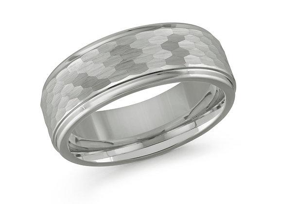 White Gold Men's Ring Size 8mm