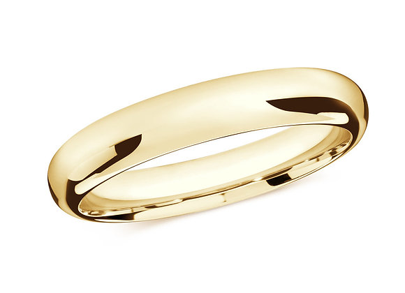 Yellow Gold Men's Ring Size 4mm
