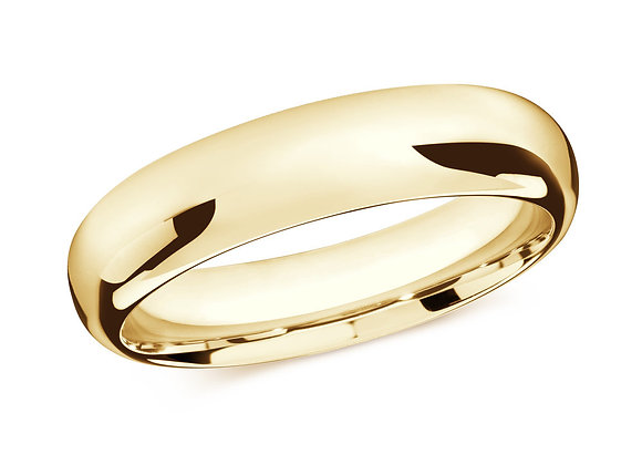 Yellow Gold Men's Ring Size 6mm