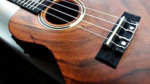 Close up of electro-acoustic ukulele; uk