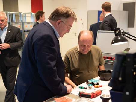 Denmarks minister of Defense visits Wiseled