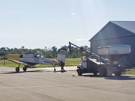 Local Farmers Participated in Cover Crop Aerial Seeding