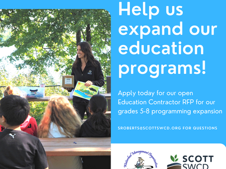 Scott SWCD looking for Youth Education Specialists