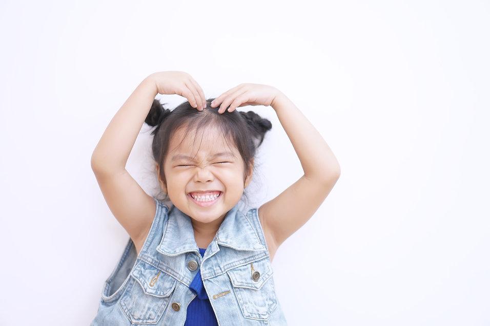 Asian child or kid girl lovely smiling a