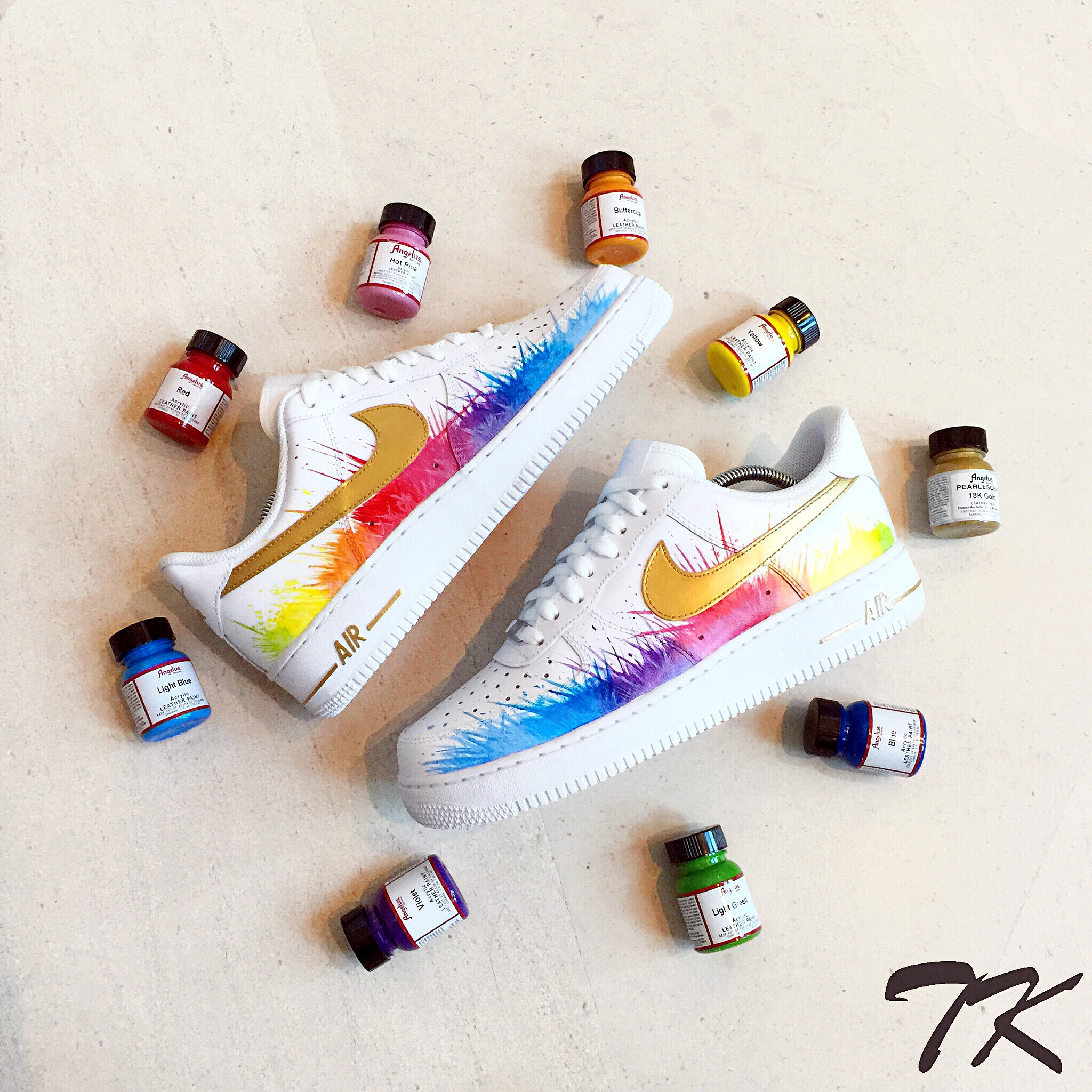 "Nike Air Force 1 ""RAINBOW SPLASH"""