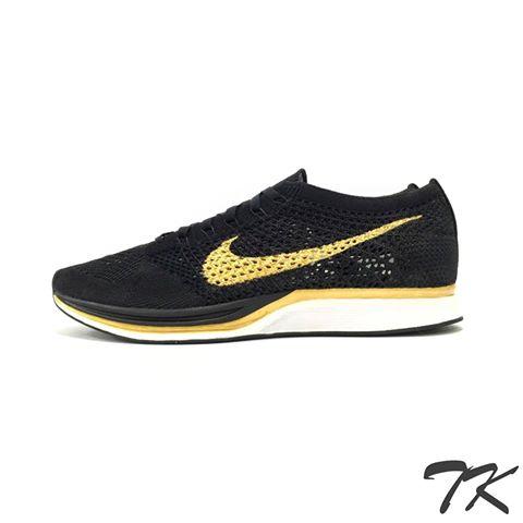 "Nike Flyknit Racer ""BLACK & GOLD"""