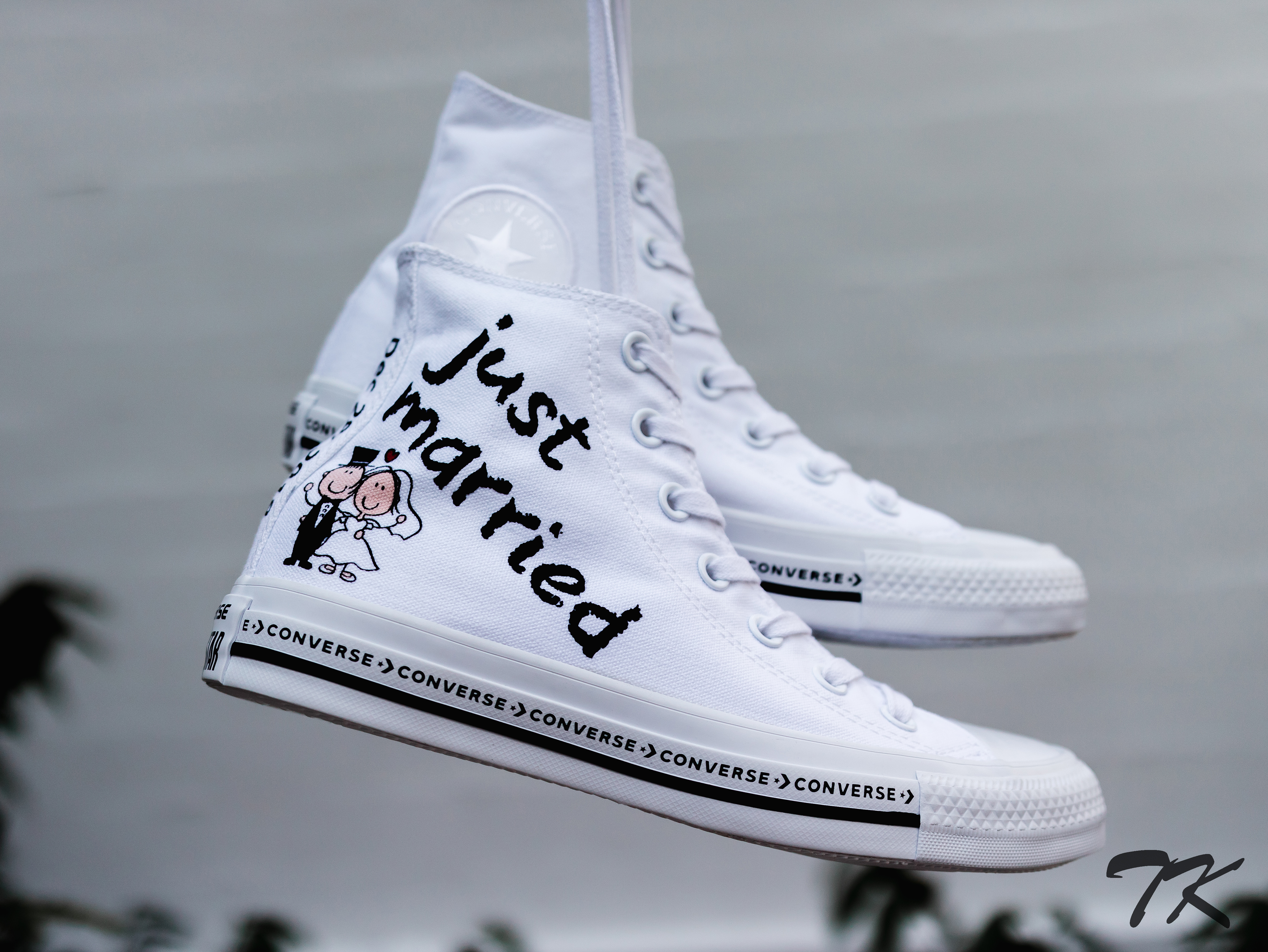 "Converse All Star High ""WEDDING"""